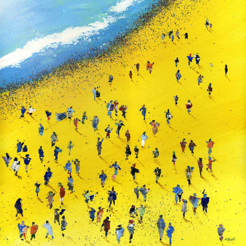 Beach Bums, framed original painting on board