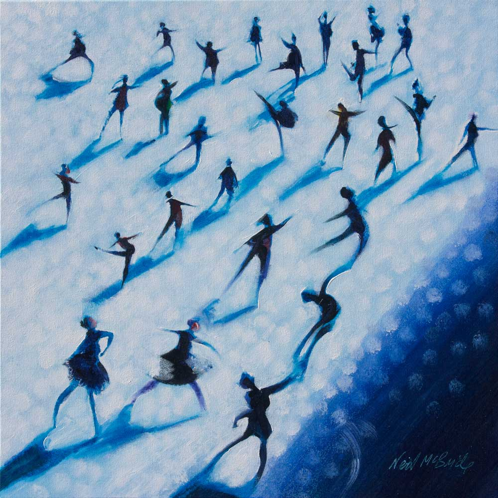 Corps de Ballet - original painting of dancers on canvas - Neil McBride Art