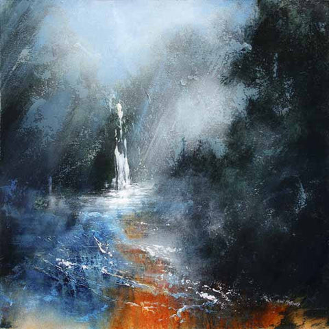 Falling Foss North Yorkshire - Original landscape painting.
