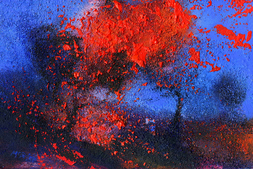 Flame Tree original contemporary landscape painting by Neil McBride