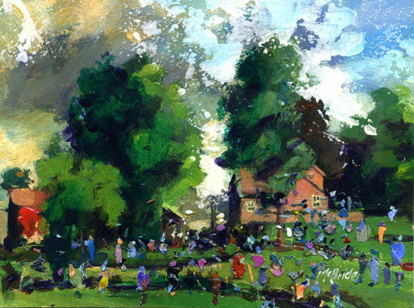 Garden Party in England - Limited Edition Art Print - Neil McBride Art