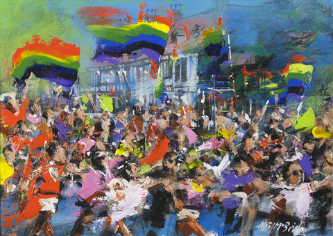 Gay Pride and Diversity - Original framed painting from the studio of Neil McBride. © Neil McBride 2018