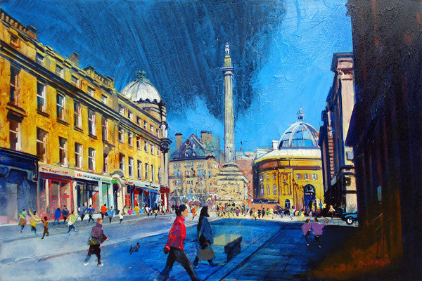Grey Street, Newcastle Upon Tyne - Limited Edition Art Print - Neil McBride Art