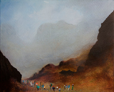 Harrison Stickle - framed original landscape painting of the lake district
