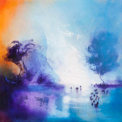 Lagoon tropical wall decor on canvas  by Neil McBride