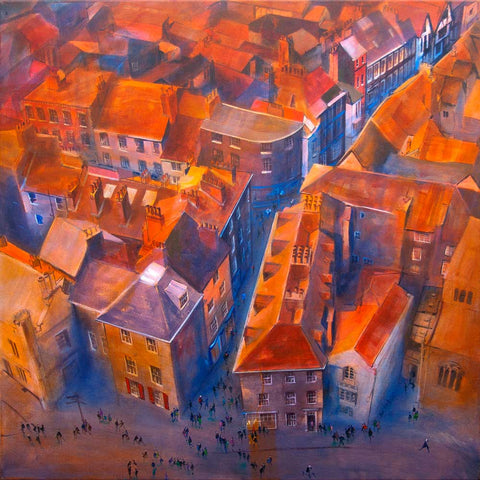 York Minster Yard - Original painting by York artist Neil McBride