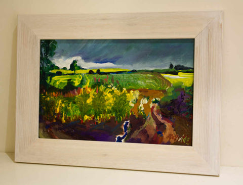 Newburgh Yorkshire landscape Study framed painting by Neil McBride