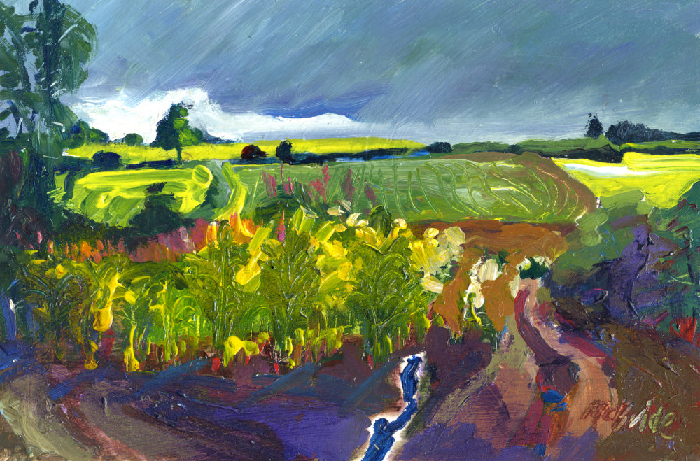 Yorkshire landscape painting titled Newburgh Study by Neil McBride