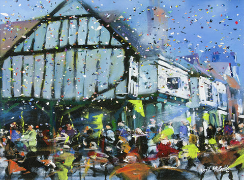 Parade in York - Original framed painting - Neil McBride Art