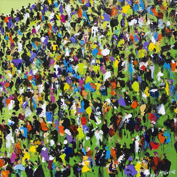 Race Meeting with Arabs - Limited Edition Art Print by British visual artist Neil McBride