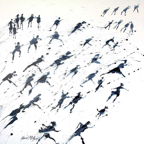 Run For Home original contemporary painting