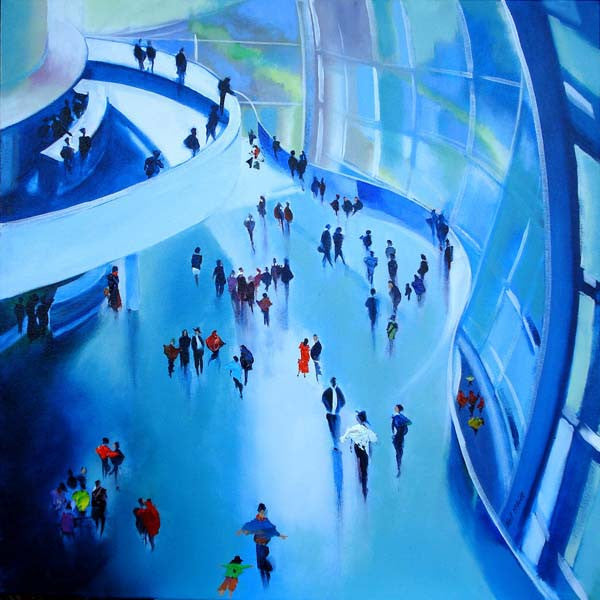 Original acrylic painting of The Stage in Gateshead by British Visual artist Neil McBride
