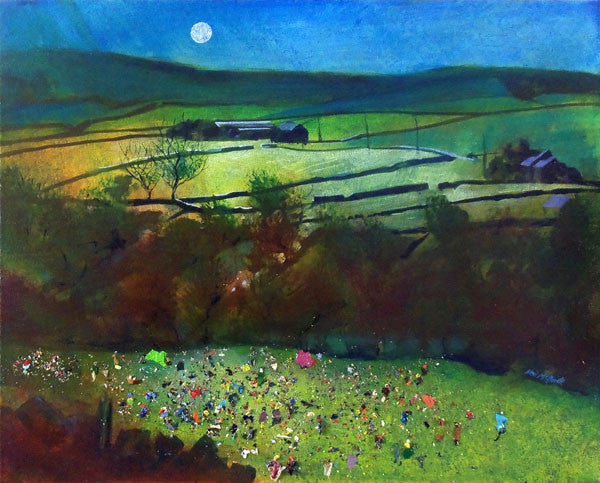 Summer Camp, Late Arrival - Limited Edition Art Print by British landscape painter Neil Mcbride - Neil McBride Art