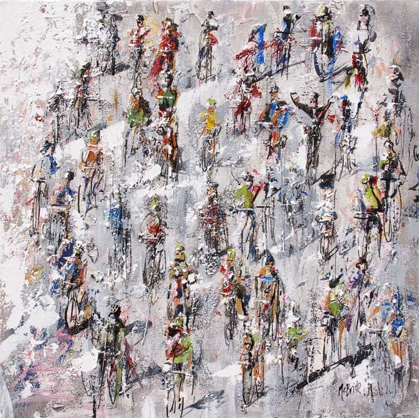 Tour de France - Head to Head, Limited Edition Sporting Print - Neil McBride Art