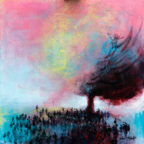 Under the Devil Tree - original painting on board