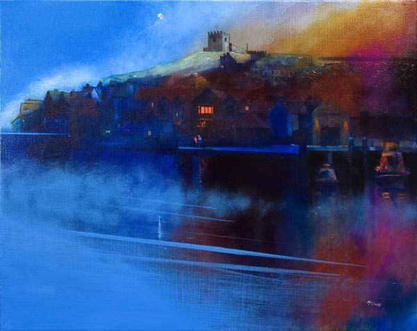 Whitby painting of Moon and Mist © Neil McBride 2019