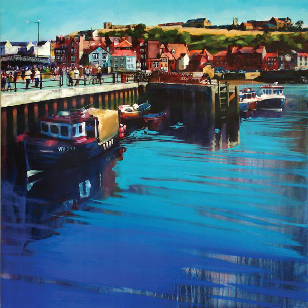 Whitby New Quay original painting on canvas