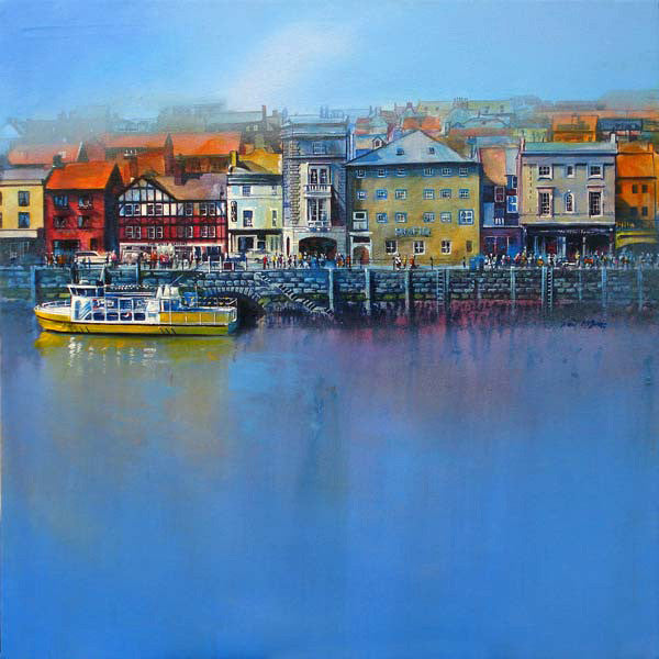 Whitby St Anne's Staith and Esk Belle II painted by Yorkshire artist, Neil McBride