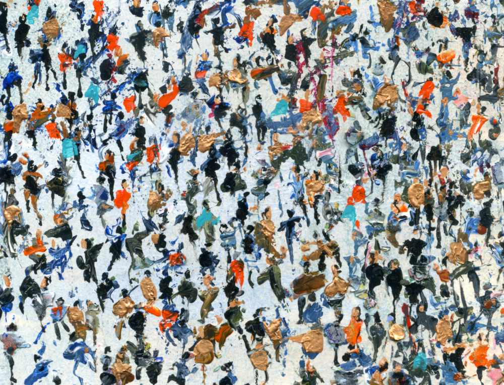 Crowds art titled Copper Mined © Neil McBride 2019 #artistsupportpledge