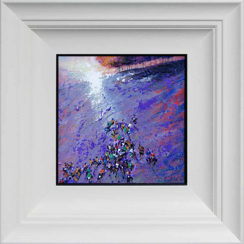 Fell Running framed crowds art www.neilmcbrideart © Neil McBride 2020