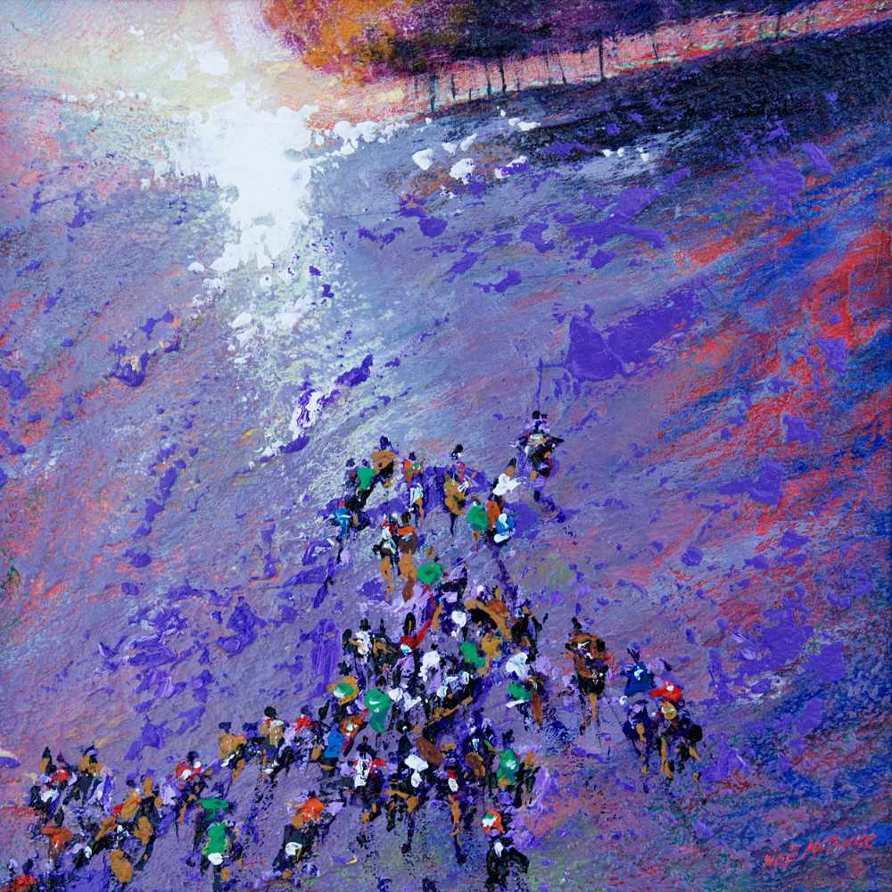 Fell Running, crowds art www.neilmcbrideart © Neil McBride 2020