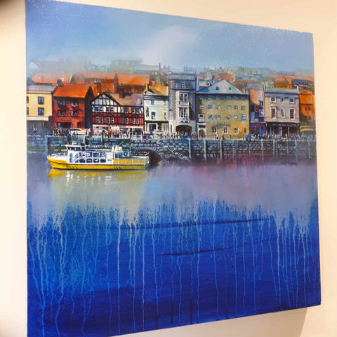 A little more interesting water in this one of a a series of paintings of Whitby harbour by Neil McBride