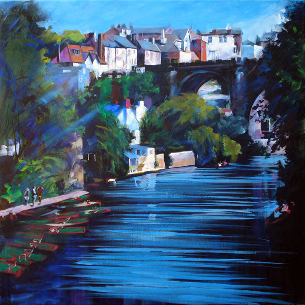 Limited edition art print for sale of Knaresborough Viaduct in North Yorkshire