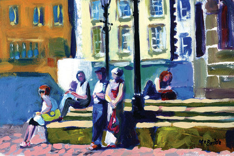 Richmond Bus Stop, Limited Edition Art Print from an original painting by Yorkshire landcape artist Neil McBride