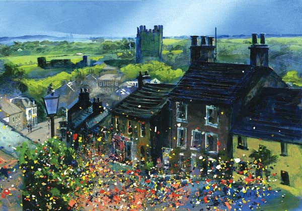 Richmond Frenchgate Carnival, Limited Edition Art Print by Yorkshire landscape artist Neil McBride - Neil McBride Art