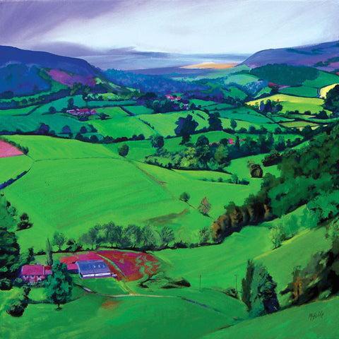 Patchwork of Yorkshire fields landscape - Limited Edition Art Print