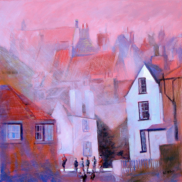 Dock of the Bay, Robin Hood's Bay Yorkshire - Limited Edition Art Print by Yorkshire artist Neil McBride