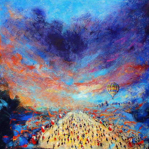 Great North Run half marathon, Limited Edition Art Print from an original painting of the race by artist Neil McBride