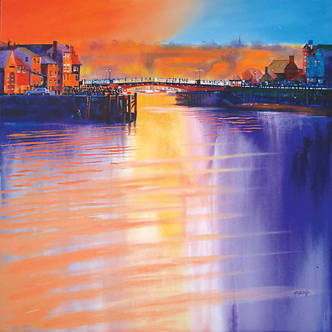 Whitby Swing Bridge original painting on canvas