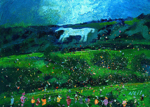 Kilburn Feast Under The White Horse - Art Print