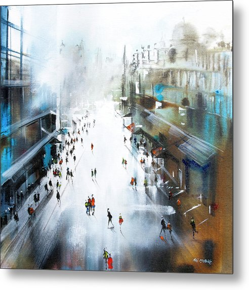 Life In A Northern Town - Metal Print - Neil McBride Art