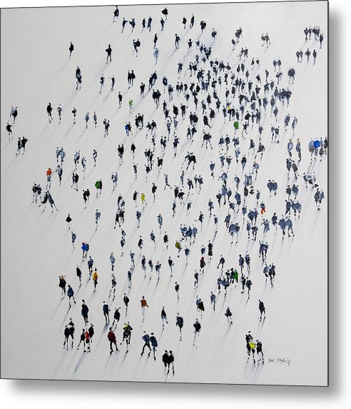 Long Shadows Short Days - Metal Print