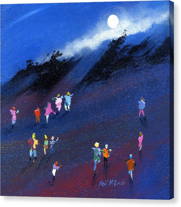 Moonbeam art on canvas © Neil McBride 2019