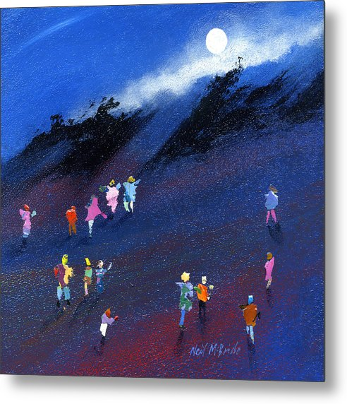 Moon Beam Search - Metal Print - Neil McBride Art