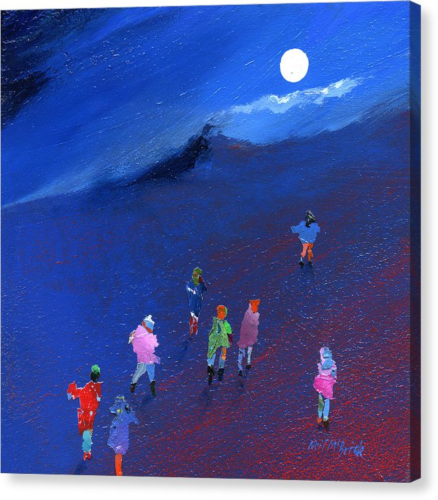 Moonlight Ramble - Canvas Print - Neil McBride Art