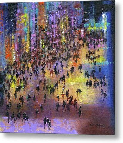 Out On The Town - Metal Print