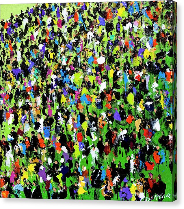 Race Meeting II - Art Print on canvas by Yorkshire based British visual artist Neil Mcbride © Neil McBride 2018