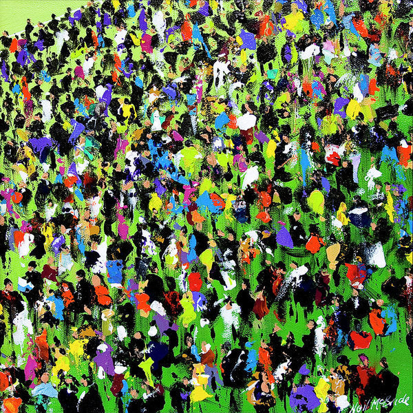 Race Meeting II - Art Print on paper by Yorkshire based British visual artist Neil Mcbride © Neil McBride 2018