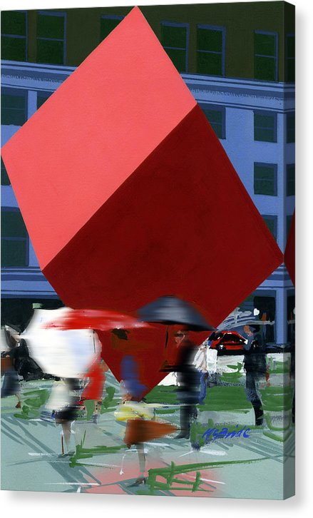 Red Cube New York art canvas © Neil McBride 2020