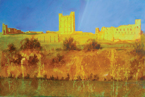 Richmond Castle in Gold - Paper Print