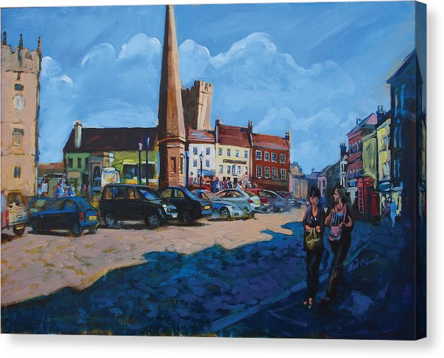 Richmond Marketplace, Yorkshire, art prints on canvas © Neil Mcbride 2018