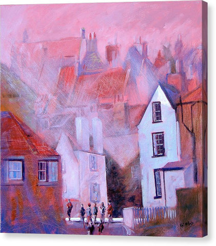 Robin Hoods Bay Dock - Canvas Print