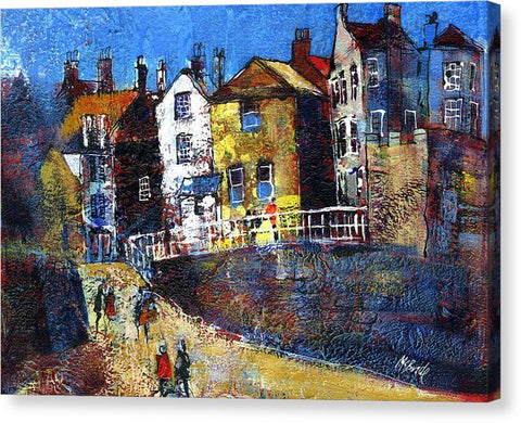 Robin Hood's Bay Red Dock - Canvas Print