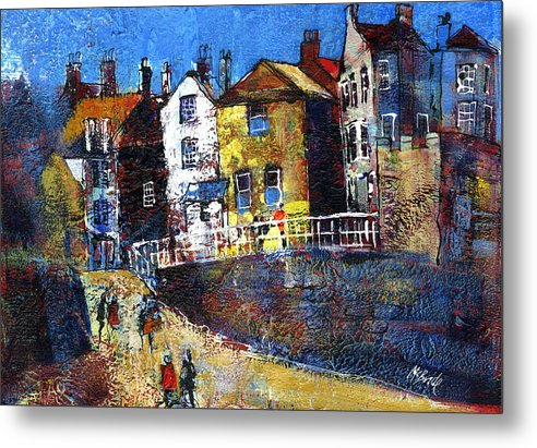 Robin Hood's Bay Red Dock - Metal Print