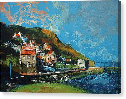 Runswick Bay Yorkshire - Canvas Print