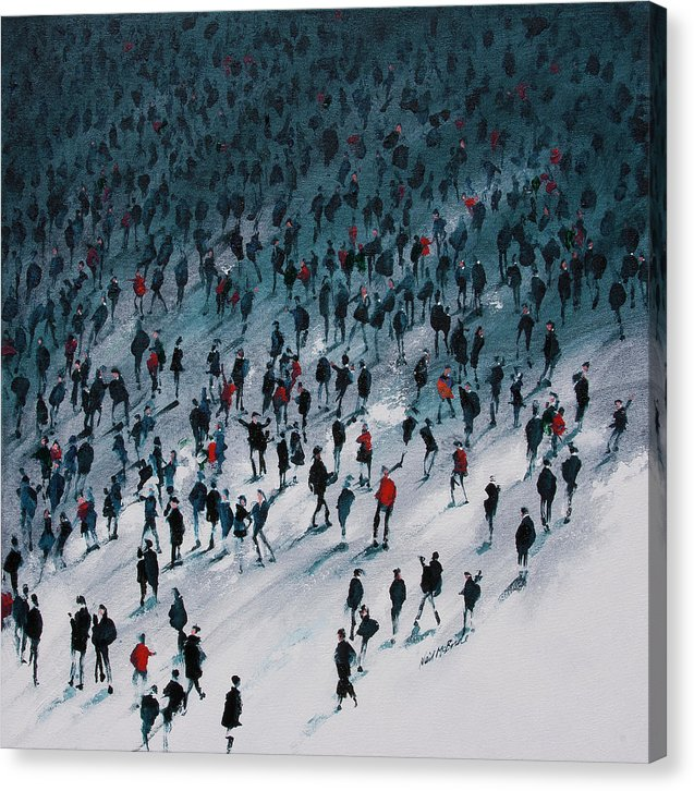 School's Out is a canvas print featuring a crowd of school children heading fro the school gates. © Neil Mcbride 2019